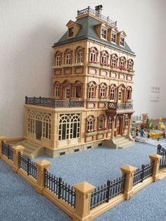 Playmobil Nostalgie-Puppenhaus Villa mit Einrichtung und Zubehör