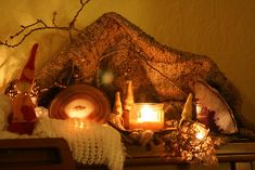 Winter Nature Table: Gnome Cave by SarabellaE / Sara / Love in the Suburbs, via Flickr