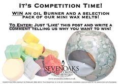 Head to our Facebook page to be in with a chance of winning. UK only please Competition Time, Oil Burners, Candle Companies, Wax Melts, Candles, Writing, Facebook, Candy, Candle Sticks