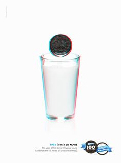Oreo celebrates 100 years. First 3D movie. #Oreo #100years #advertising