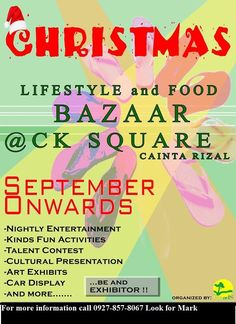 Christmas Bazaar Schedule 2015 around the City Bazaars, Fun Activities, Schedule, Presentation, Ads, Entertaining, City, Christmas, Timeline
