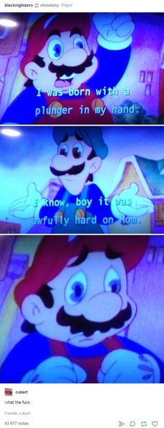 Omfg it's the Super Mario Bros super show Funny Cute, Haha Funny, Really Funny, Hilarious, Funny Stuff, Super Funny, Random Stuff, Best Memes, Dankest Memes