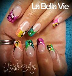 Colourful Nails Colourful Nails, Leigh Ann, Nail Colors, Hair Beauty, Nail Colour, Cute Hair