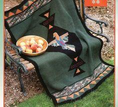 Crochet Indian Afghan Pattern | Phoenix Afghan Crochet Pattern Rare Southwest Blanket Throw Indian ...