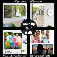Wake Up Your Walls With Photos $50 Walmart Gift Card #Giveaway #HPSummerPhotoFun - Scraps of My Geek Life