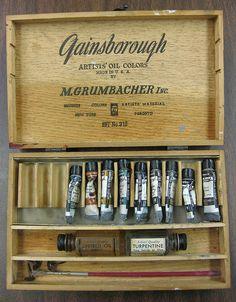 Vintage Gainsborough Artist Oils box by B-Kay, via Flickr