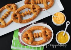 Salted Beer Soft Pretzel Footballs