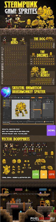 CreativeMarket - Steampunk Game Sprites