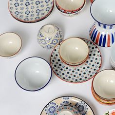 Pols Potten Mosaic Small Plates Assorted Set Of 4 | Plates | Dining Room | Heal's