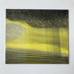 Yellow Sky, Mark Making, Watercolour, Rain, Paintings, Landscape, Artist, Instagram, Pen And Wash