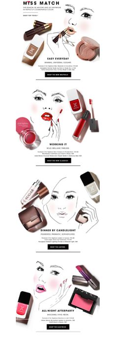 Sephora-make-up and face sketches