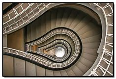 """The stairs at the """"House of the Black Madonna"""", Prague Thank you for visiting. Please have a look at the rest of my photos from Prague Stair Art, Stair Walls, Stairs, Exotic Homes, Floor Ceiling, Digital Photography School, Design Repeats, Stairway To Heaven, Great Shots"""