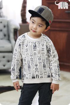 Color Me Whimsy - Bunny Rabbit Kids Sweatshirt