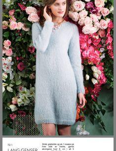 Angora Sweater, Cardigans, Sweaters, Knit Fashion, Free Knitting, Knit Dress, Cold Shoulder Dress, High Neck Dress, Boho