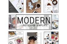 TEMPLATE Instagram Template Social Media PSD Photoshop