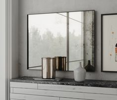 Collection of Hanging wall mirrors by Los Angeles based design and mirror  studio, MirrorCoop. MirrorCoop is the project of designer John Linden, who  started the company in 2013 after designing custom mirrors for many  clients.