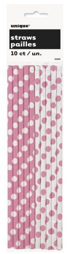 Pink polka dot paper straws http://www.wfdenny.co.uk/p/pink-polka-dot-paper-straws/4090/