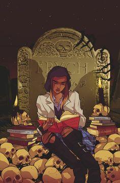 GOTHAM_ACADEMY_SECOND_SEMESTER_4 Cuando un miembro del Club de detective se ve obligado a enfrentar un juicio por expulsión, el resto de la banda debe reunir para un rescate.  Pero pistas las colocaron en una búsqueda del misterioso libro de Gotham, y la banda entera de que hay cosas más terribles en Gotham Academia que ser expulsado!