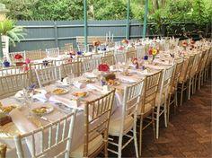 Reception setup at Lion Gate Lodge, Sydney - Harbourside Wedding Reception Decorators