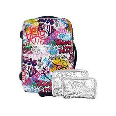 Hello Kitty HK Grafitti Suitcase ❤ liked on Polyvore