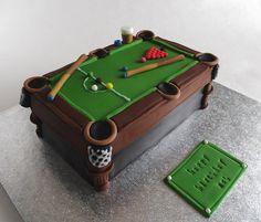 #Snooker Table Cake repin