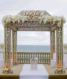 Mandap Madness! I would get married at the beach if I could have a gazebo like this one :)