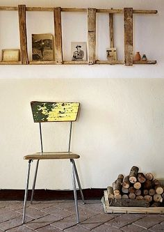 Wabi Sabi: The Art of the Imperfect: The elegant withering of an old ladder and chair  — via Wabi Sabi Style. Photographed by Johanna Ekmark for the French mag Marie Claire.