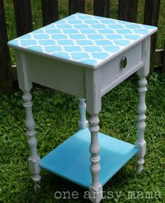 Nightstand re-do -would look great in the girls' rooms