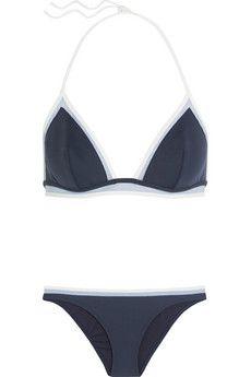 La Perla Kosmos mesh-trimmed triangle bikini   NET-A-PORTER
