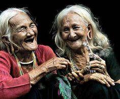 Le fou rire... juste à se voir, à se regarder, à être ensemble !