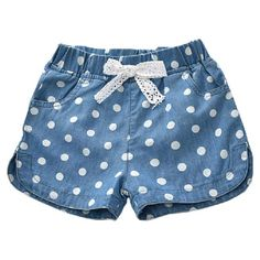 beachwear children clothing western summer cotton shorts lovely polka linen jeans girls denim pant 2017 Summer 2017 Girls Denim Shorts Jeans Shorts Children Clothing Lovely Polka Dots Baby Western CottonYou can find Shorts and more on our website Short Niña, Short Girls, Girls Denim Shorts, Girls Jeans, Shorts For Girls, Denim Jeans, Kids Shorts, Denim Skirt, Jean Shorts