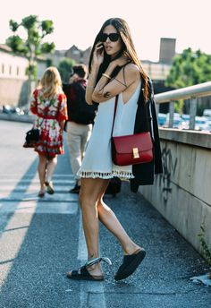 What to Wear With a Slipdress - Street Style, Gilda Ambrosio, Celine, Styling Tips