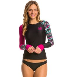 Body Glove Breathe Women's Ensenada Sleek Long Sleeve Rash Guard at SwimOutlet.com – The Web's most popular swim shop