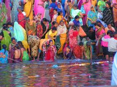 Morning rituals in Ganges River, Varanasi, India