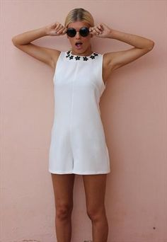 White Peter Playsuit