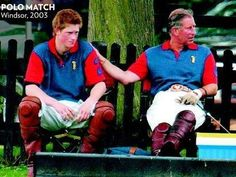 The Prince of Wales with his youngest son, Prince Harry.