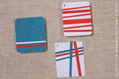 three gift tags by A Little Hut, via Flickr