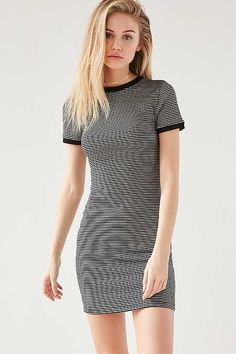 BDG Striped Bodycon T-Shirt Dress