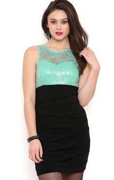 Deb Shops Illusion Lace Sweetheart Bodycon Dress with Shutter Skirt $31.50