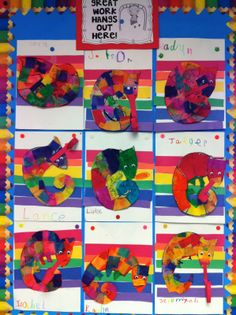Chameleon art project from Read Write Sing