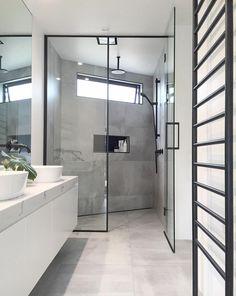 "Small Bathroom Design Black - Small Bathroom Design Black life-style, bath trends, Highgrove bathrooms[[caption id="""" align=""aligncenter"" Bathroom Vanity Tops, Grey Bathrooms, Bathroom Small, Bathroom Ideas, Shower Ideas, Bathroom Gray, Bathroom Showers, Modern Bathroom Design, Bathroom Interior Design"