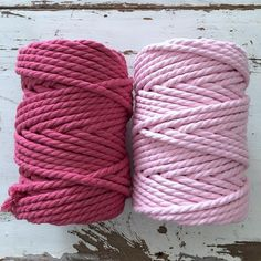 Twisted Macrame Cotton Rope 4.5mm • Lotus - Soft Grey - Soft Pink - So – ChompaHandmade