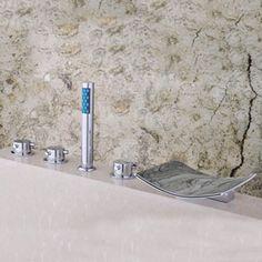 YanCui@ Home Bathroom Shower Multi Function Luxury Bathroom Mixer Shower Combo Full Chrome Bathroom Showers