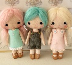 Cotton Candy Dolls pdf Pattern  Instant Download by Gingermelon, $13.00