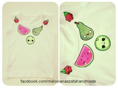hand-painted child's t-shirt  facebook.com/malowanaszafahandmade