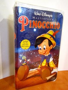 "WALT DISNEY SEALED PINOCCHIO  VHS  MASTERPIECE COLLECTION  1993  VINTAGE  ""RARE"""