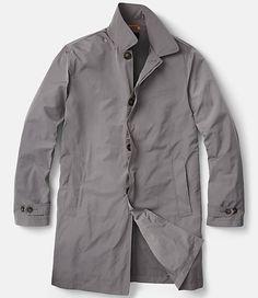Wearer's left zipper interior pocket folds out into bag to make garment packable.