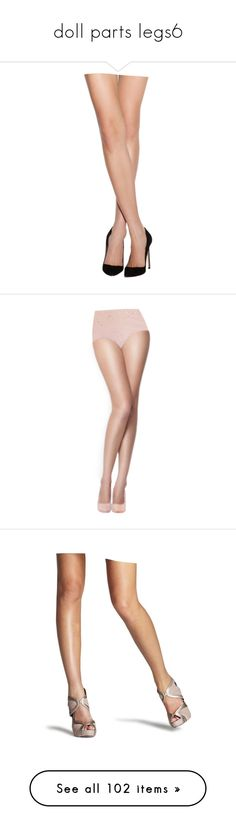 """""""doll parts legs6"""" by colonae ❤ liked on Polyvore featuring doll parts, dolls, legs, doll legs, body parts, intimates, hosiery, tights, ribbed pantyhose and commando pantyhose"""