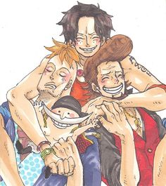 Whitebeard, thatch, Portgas D. Ace and Marco the Phoenix #one piece