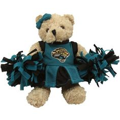 Jacksonville Jaguars Talking Cheerleader Plush Bear  @Fanatics #FanaticsWishList